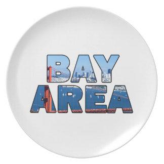 San- Francisco Baybereich Melaminteller
