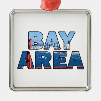 San- Francisco Baybereich Silbernes Ornament