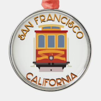 San Francisco Drahtseilbahn Silbernes Ornament
