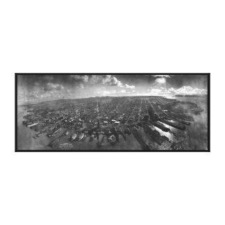 San Francisco Erdbeben-Ruinen von Panorama 1906 Leinwand Drucke