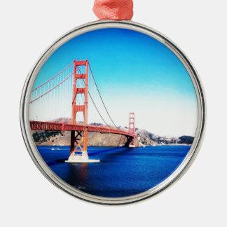 San Francisco Golden gate bridge Kalifornien Silbernes Ornament