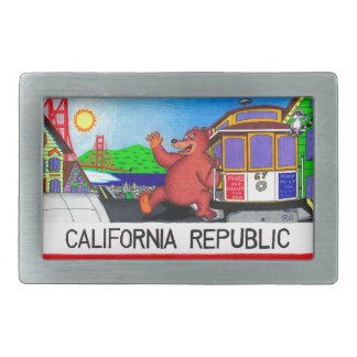 San Francisco Kalifornien Bärn-Flagge Rechteckige Gürtelschnallen
