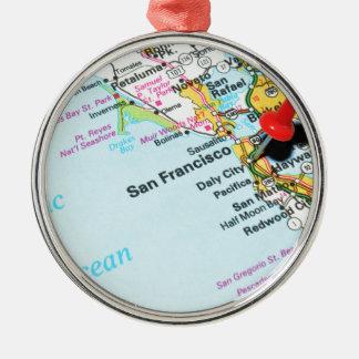 San Francisco, Kalifornien Silbernes Ornament