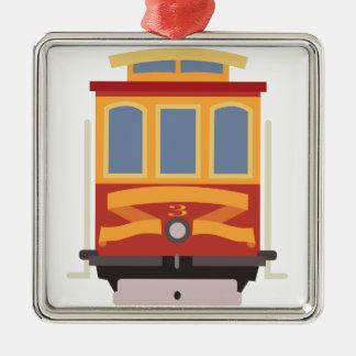San Francisco Laufkatze Silbernes Ornament