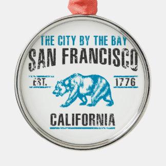 San Francisco Silbernes Ornament