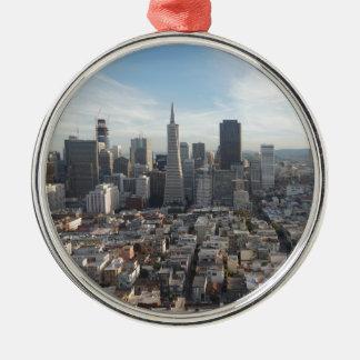 San Francisco Skyline-Panorama Silbernes Ornament
