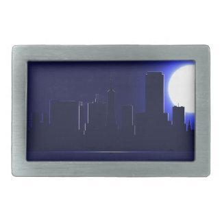 San Francisco Skyline-Silhouette nachts Rechteckige Gürtelschnallen