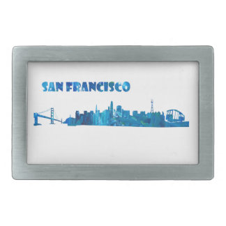 San Francisco Skyline-Silhouette Rechteckige Gürtelschnallen