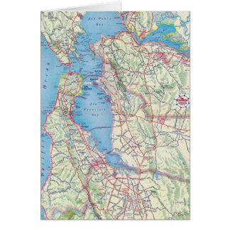 San Francisco und Nähe Karte