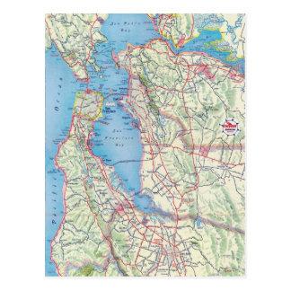 San Francisco und Nähe Postkarte