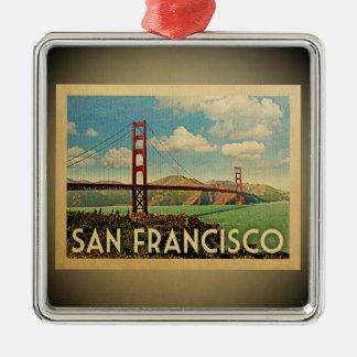 San Francisco Verzierungs-Golden Gate Brücke Silbernes Ornament