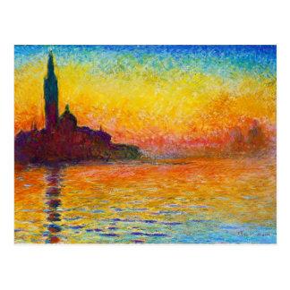 San Giorgio Maggiore an der Dämmerung Claude Monet Postkarten