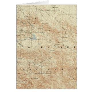 San- Gorgonioviereck, das San- Andreasriß zeigt Karte