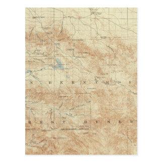 San- Gorgonioviereck, das San- Andreasriß zeigt Postkarte
