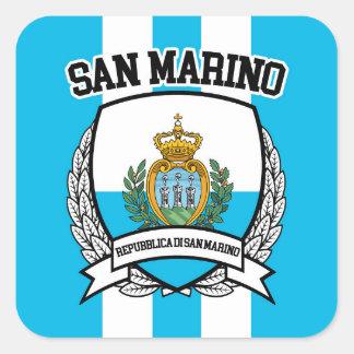 San Marino Quadratischer Aufkleber
