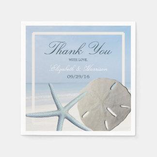 Sand-Dollar und Starfish-Strand-Hochzeit Papierservietten