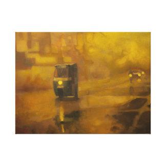 Sanda Straße, Öl auf Leinwand (Druck)