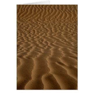 Sandkräuselungen Grußkarte
