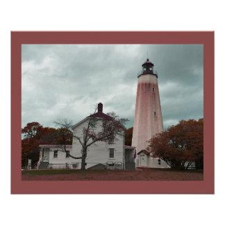 Sandy-Haken-Leuchtturm Poster
