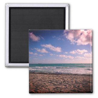 Sangria-Sonnenaufgang-Strand-Magnet Quadratischer Magnet