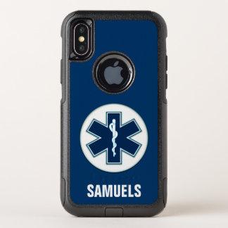 Sanitäter EMT EMS mit Namen OtterBox Commuter iPhone X Hülle