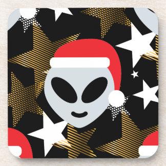 Sankt-alien emoji getränkeuntersetzer