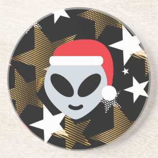 Sankt-alien emoji untersetzer