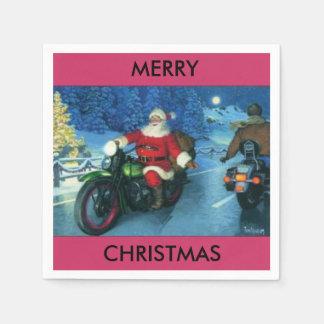 Sankt auf einer Motorradpapierserviette Serviette