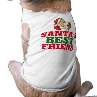 Sankt bester Freund WeihnachtsShirt für Hund Ärmelfreies Hunde-Shirt