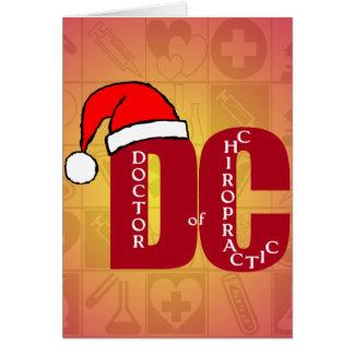Sankt DC Doktor des Chiropraktik-Weihnachtslogos Karte