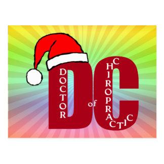 Sankt DC Doktor des Chiropraktik-Weihnachtslogos Postkarte