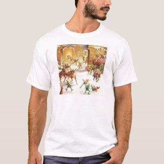 SANKT ELFE LADEN SEINEN PFERDESCHLITTEN MIT T-Shirt