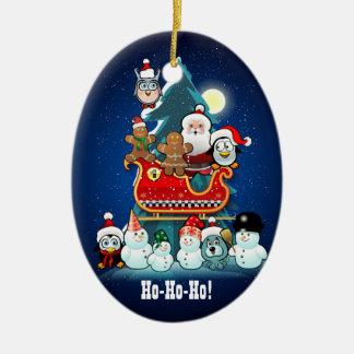 Sankt Feiertags-Party durch den Weihnachtsbaum Keramik Ornament