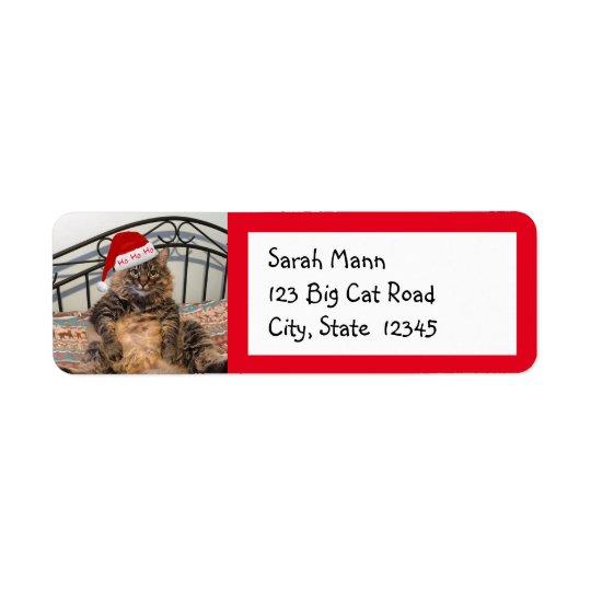 Sankt-Katzen-Rücksendeadressen-Aufkleber Rücksendeetiketten