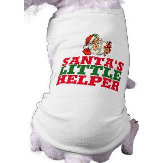 Sankt kleiner Helfer WeihnachtsHundeshirt Ärmelfreies Hunde-Shirt