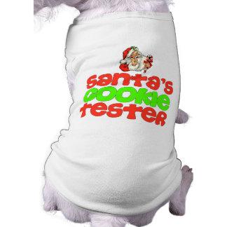Sankt Plätzchenprüfvorrichtung Ärmelfreies Hunde-Shirt