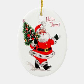 Sankt sagt hallo ovales keramik ornament