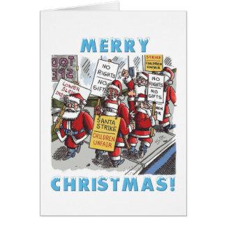 Sankt-Streik-Cartoon Weihnachtsgrußkarte Karte