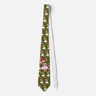 Sankt-Teddybär mit Hut und Muffe Bedruckte Krawatte