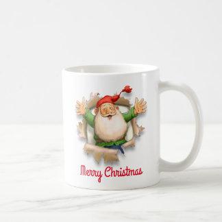 Sankt Überraschungs-frohe Weihnachten Kaffeetasse