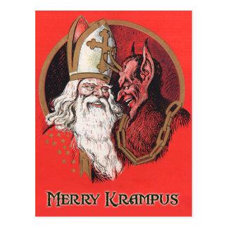 Sankt und Krampus Postkarte