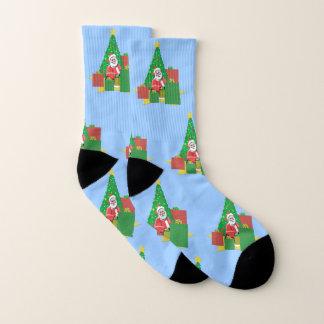Sankt unter dem Weihnachtsbaum Socken