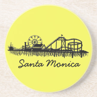 Santa Monica CA Kalifornien Pier-Strand-Riesenrad Sandstein Untersetzer