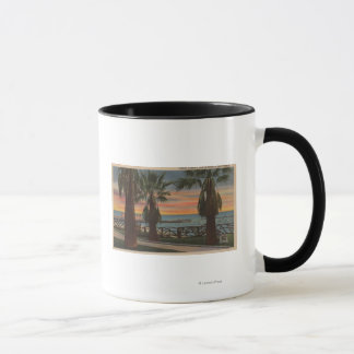 Santa Monica, CA - Yacht-Hafen und Tasse
