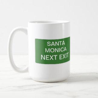 Santa Monica folgendes Ausgangs-Zeichen Tasse