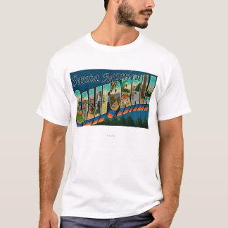 Santa Monica, Kalifornien - große Buchstabe-Szenen T-Shirt