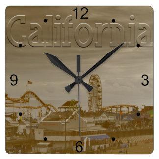 Santa Monica Kalifornien Quadratische Wanduhr