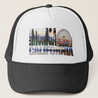Santa Monica Logo-Blumen-Pierstrand Truckerkappe