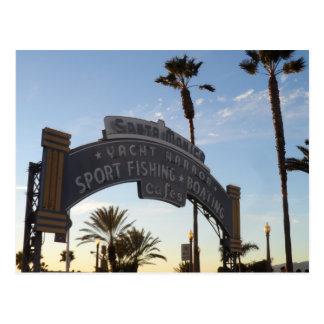 Santa Monica Pier Postkarte