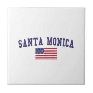 Santa Monica US Flagge Fliese